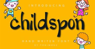 Childspon [1 Font] | The Fonts Master