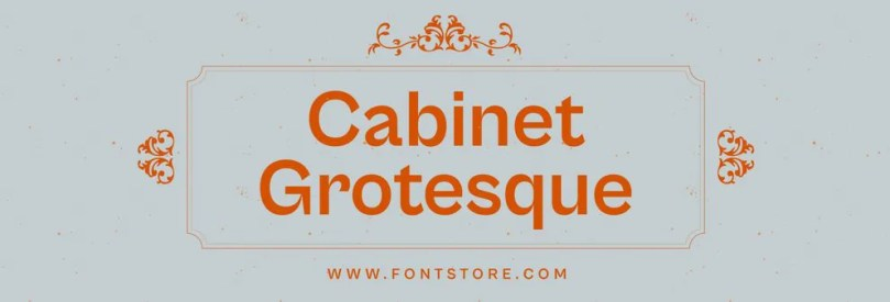 Cabinet Grotesque Super Family [8 Fonts]