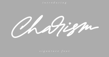 Charism [1 Font] | The Fonts Master