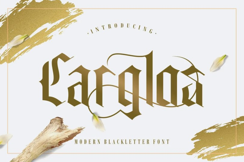 Carglos [1 Font]   The Fonts Master