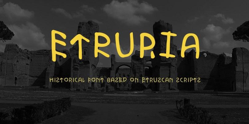 Etruria [1 Font] | The Fonts Master