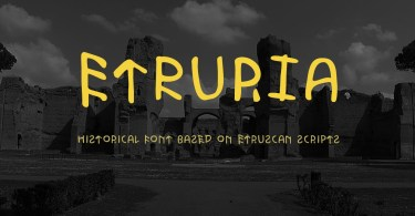Etruria [1 Font] | The Fonts Master