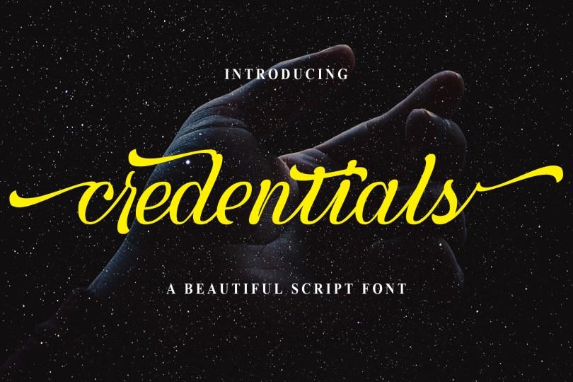 Credentials [1 Font]   The Fonts Master