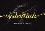 Credentials [1 Font] | The Fonts Master