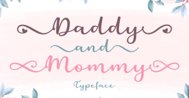 Daddy &Amp; Mommy [1 Font] | The Fonts Master