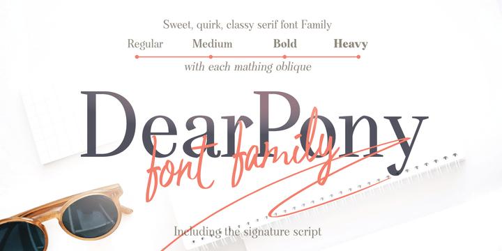 Dear Pony [1 Fonts]   The Fonts Master