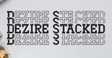 Dezire Stacked [1 Font] | The Fonts Master