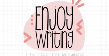 Enjoy Writing [2 Fonts] | The Fonts Master