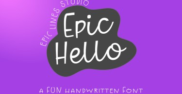 Epic Hello [1 Font] | The Fonts Master