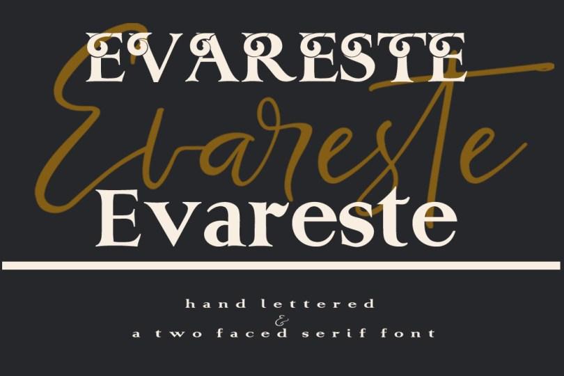 Evareste Duo [3 Fonts]   The Fonts Master