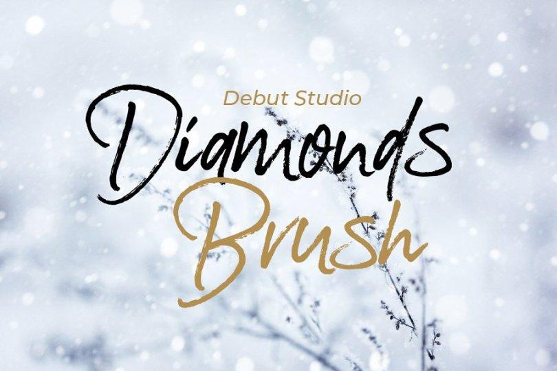 Diamonds Brush [1 Font] | The Fonts Master