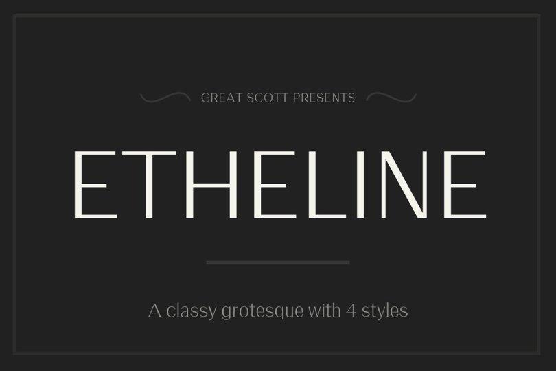 Etheline [4 Fonts] | The Fonts Master