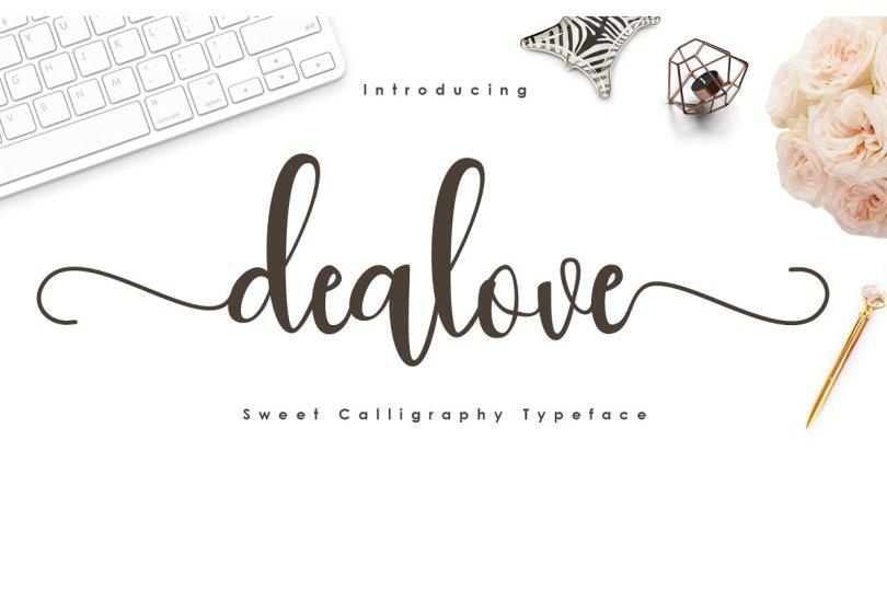 Dealove [1 Font] | The Fonts Master