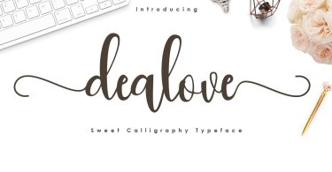 Dealove [1 Font] | The Fonts Master