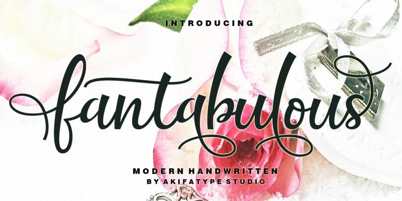 Fantabulous Script [1 Font] | The Fonts Master
