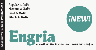 Engria Super Family [8 Fonts] | The Fonts Master