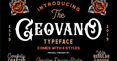 Geovano [8 Fonts] | The Fonts Master