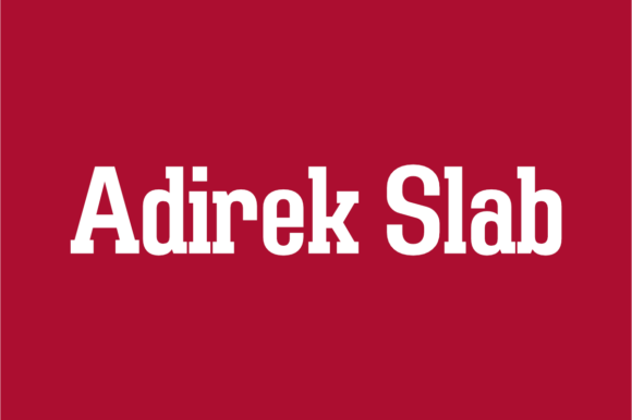 Adirek Slab [16 Fonts] | The Fonts Master