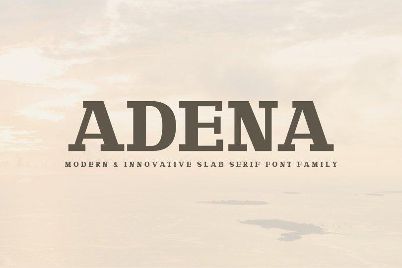 Adena [2 Fonts]   The Fonts Master