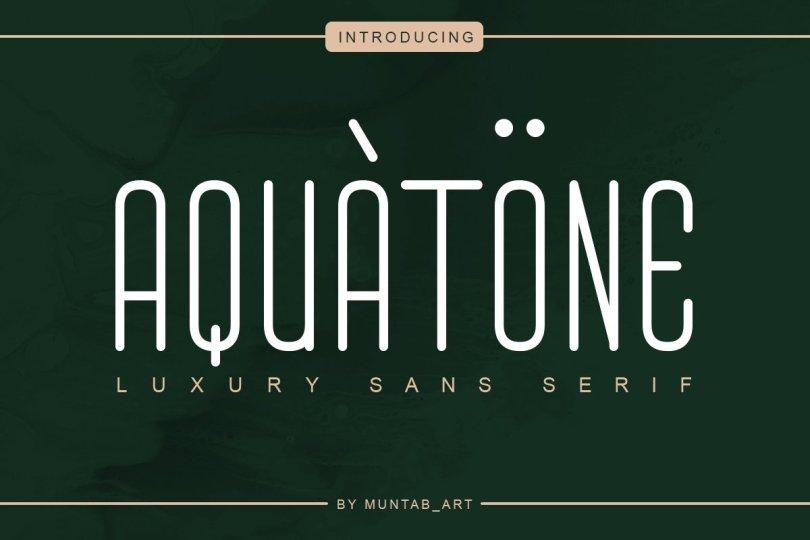 Aquatone [1 Font] | The Fonts Master