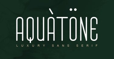 Aquatone [1 Font] | The Fonts Master