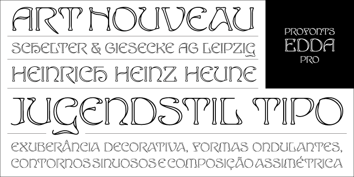 Edda Pro [1 Font] | The Fonts Master
