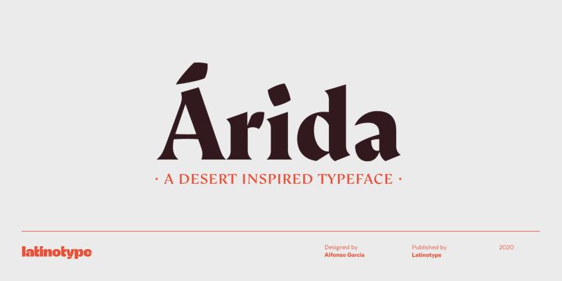 Arida Super Family [5 Fonts] | The Fonts Master
