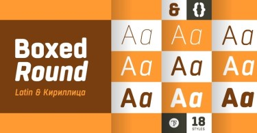 Boxed Round Super Family [18 Fonts] | The Fonts Master