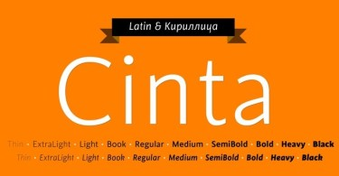 Cinta Super Family [20 Fonts] | The Fonts Master