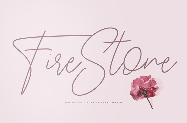Fire Stone [2 Fonts] | The Fonts Master