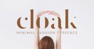 Cloak [1 Font] | The Fonts Master