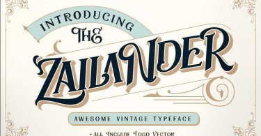 Zailander [1 Font] | The Fonts Master