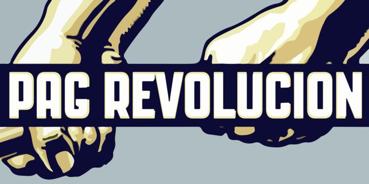 Pag Revolucion [1 Font] | The Fonts Master
