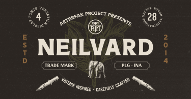 Neilvard [6 Fonts] | The Fonts Master