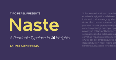 Naste Super Family [16 Fonts] | The Fonts Master
