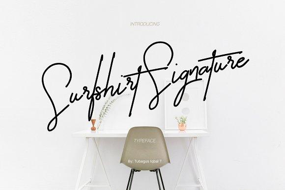 Surfshirt Signature [1 Font] | The Fonts Master