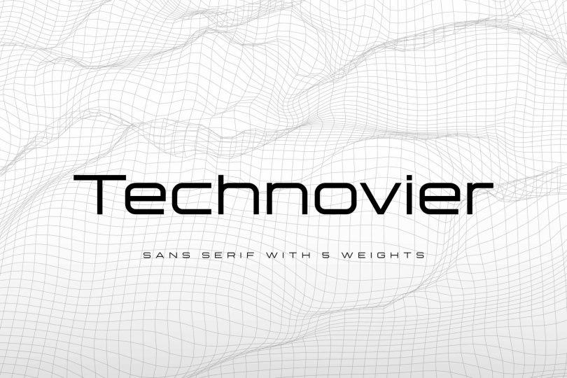 Technovier [5 Fonts] | The Fonts Master