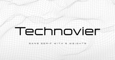 Technovier [5 Fonts] | The Fonts Master
