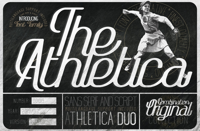 The Athletica [26 Fonts] | The Fonts Master