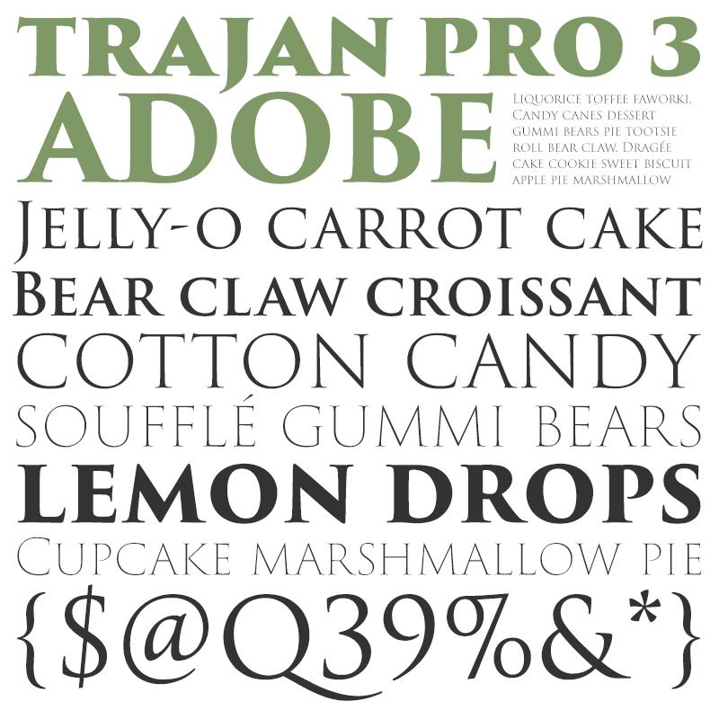 Trajan Pro 3 [6 Fonts] | The Fonts Master