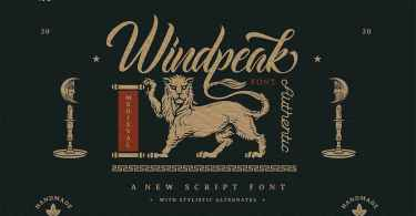 Windpeak [2 Fonts] | The Fonts Master