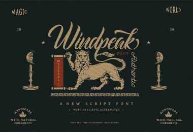 Windpeak [2 Fonts] | The Fonts Master