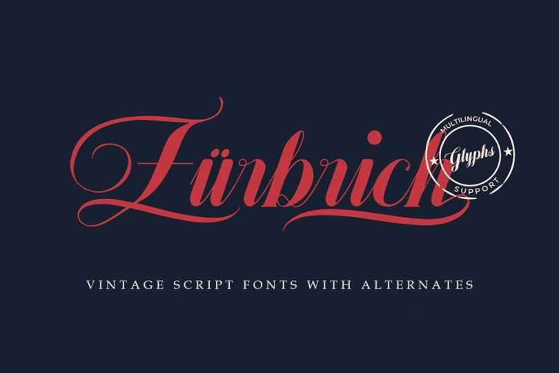 Zurbrich [1 Font] | The Fonts Master