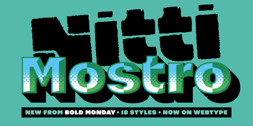 Nitti Mostro Super Family [18 Fonts] | The Fonts Master