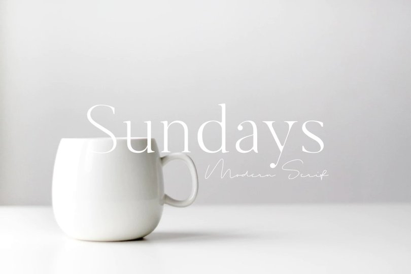 Sundays [1 Font] | The Fonts Master