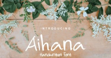 Aihana [3 Fonts] | The Fonts Master