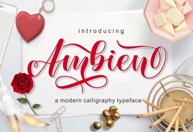Ambien Script [1 Font] | The Fonts Master