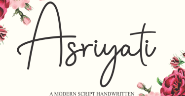 Asriyati [1 Font] | The Fonts Master