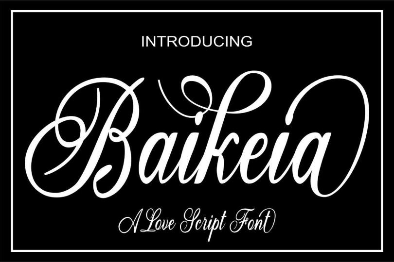 Baikeia Script [1 Font] | The Fonts Master