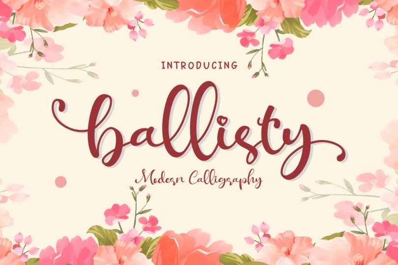 Ballisty [1 Font]   The Fonts Master